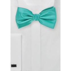 Solid Mermaid Green Bow Tie