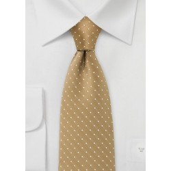 Budda Gold Polka Dot Tie for Kids