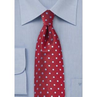 Textured Silk Tie with Polka Dots