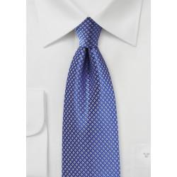 Saphire Silk Tie with Golden Micro Checks