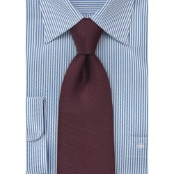 Matte Maroon Tie for Kids