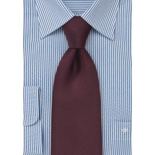 Matte Maroon Tie for Kids