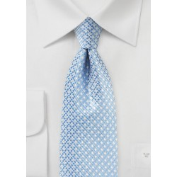 Mini Check Tie in Blue and SIlver