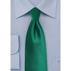Hunter Green Satin Kids Tie