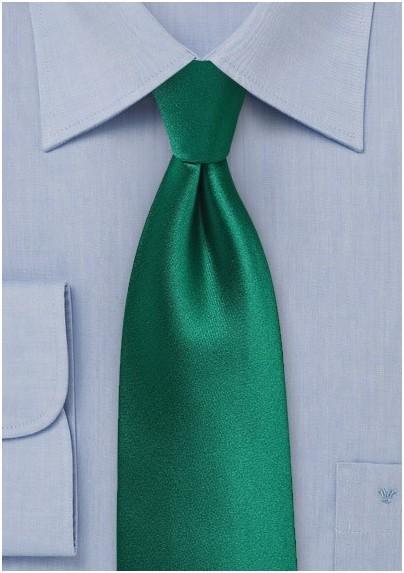 Hunter Green Satin Kids Tie
