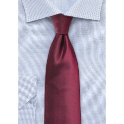 Wine Red Extra Long Necktie
