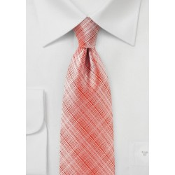 Textured Tie in Strawberry Red