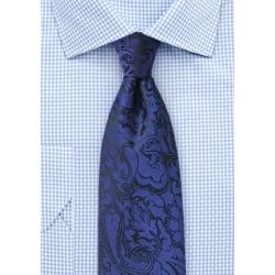 Kids Paisley Tie in Royal Blue