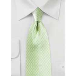 Pastel Green Satin Silk Tie