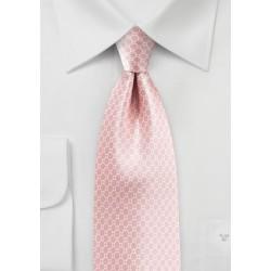 Satin Silk Tie in Strawberry Cream