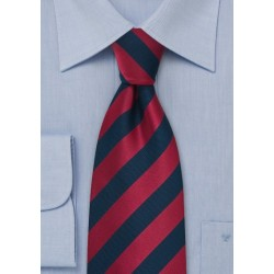 Navy and Cherry Red Kids Tie