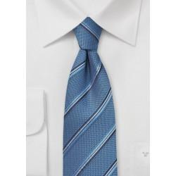 Indigo Striped Silk Tie