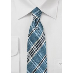 Indigo Plaid Silk Tie