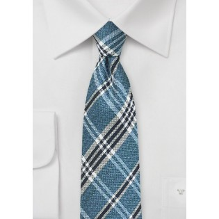 Indigo Plaid Silk Tie