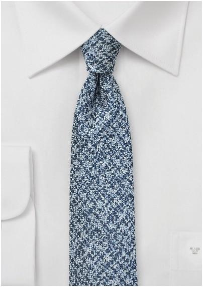 Blue and Silver Tweed Tie