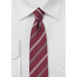 Dark Red Wool Skinny Tie