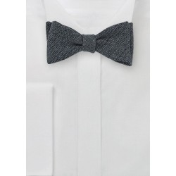 Merino Wool Bow Tie in Midnight