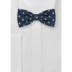 Nautical Bow Tie in Navy