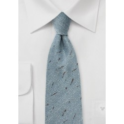 Light Blue Herringbone Wool Tie