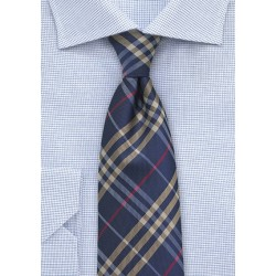 XL Tartan Plaid in Navy, Gold, and Red