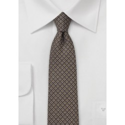 Mocha Brown Silk and Wool Tie