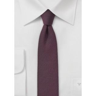 Mahogany Red Wool Tie