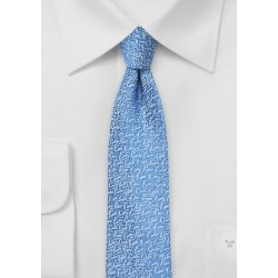 Air Blue Textured Skinny Tie