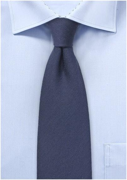 Wool Winter Tie in Midnight