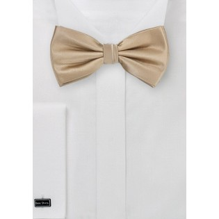 Solid Champagne Bowtie