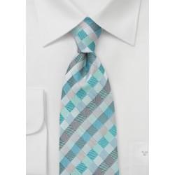 Patchwork XL Tie in Aquas