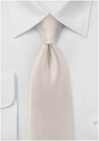 Mens Tie in Soft Cream