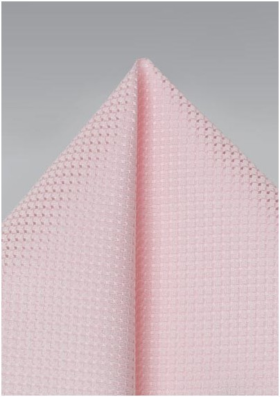 Pink Pocket Square with Texture