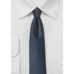 Midnight Blue Skinny Designer Tie