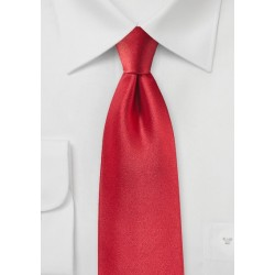 Tomato Red Satin Silk Tie