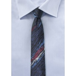 Super Skinny Designer Tie in Charcoal