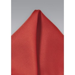 Dark Orange Mens Pocket Square