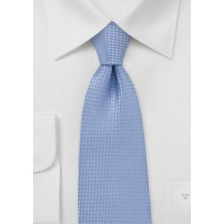Light Blue Textured Kids Tie
