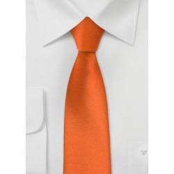 Skinny Mens Tie in Persimmon Orange