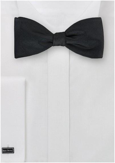 Self Tied Bow Tie in Jet Black