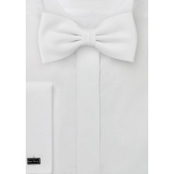 Solid White Kids Bow Tie