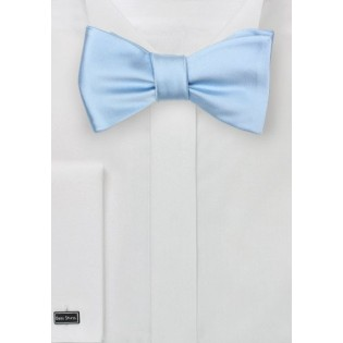Light Blue Self Tied Bow Tie
