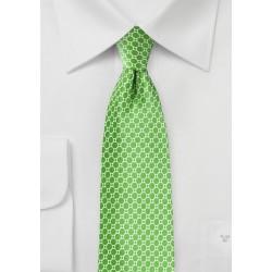 Designer Silk Tie in Kelly Green