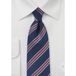 Coarse Weave British Striped Tie