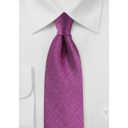Herringbone Silk Tie in Magenta