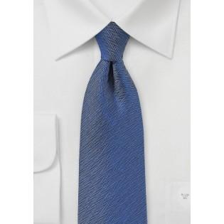 Woven Herringbone Tie in Denim Blue