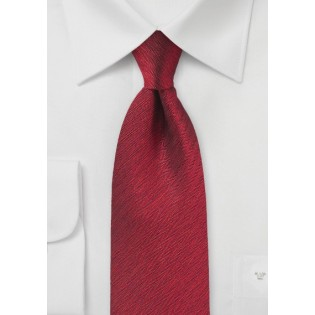Deep Brick Red Herringbone Tie