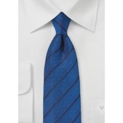 Deep Blue Designer Tie with Modern Stripe