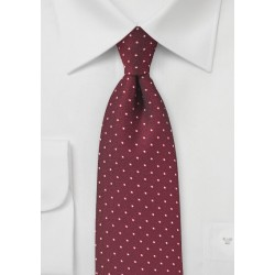 Textured Polka Dot Tie in Cherry