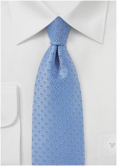 Periwinkle Blue Polka Dot Tie