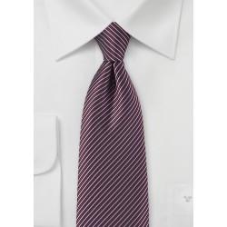 Stripe Tie in Mauve, Burgundy, and Black